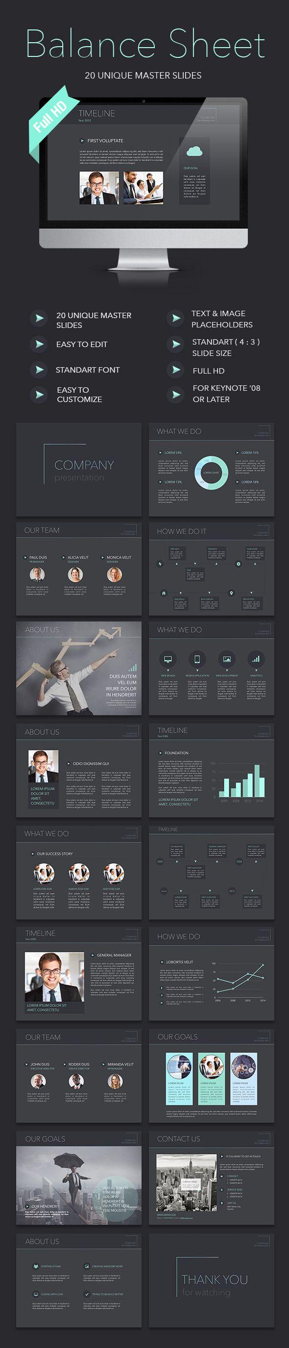 Balance Sheet Keynote Template