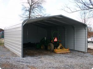 Regular Style Enclosed Carport