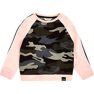 Roze sweatshirt met camouflageprint voor mini girls