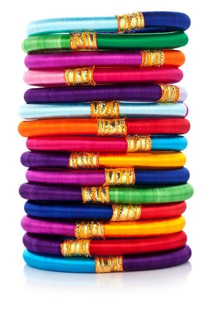 Indian Handmade Bollywood Silk Thread Bangles
