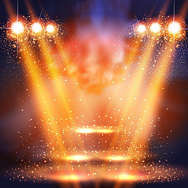 Fundo brilhante Efeito de iluminação de Palco, Floral ...