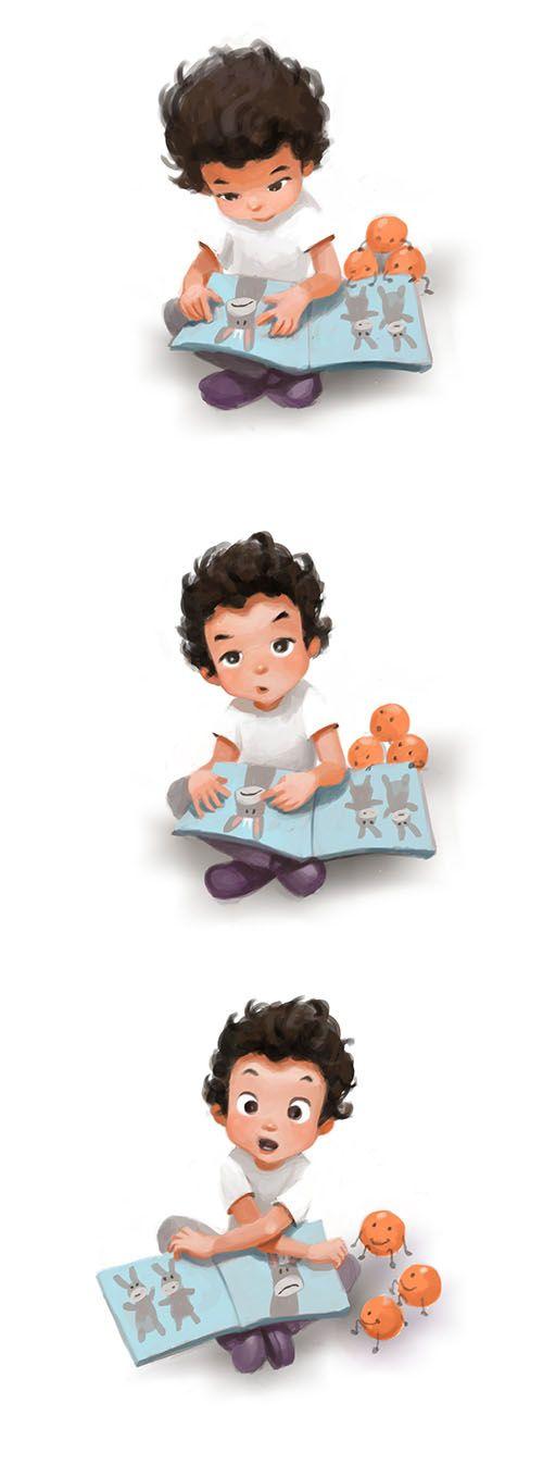 Nos encantan las ilustraciones de Naranjas y zapatos y cómo reflejan con humor e imaginación el día a día con su hijo.