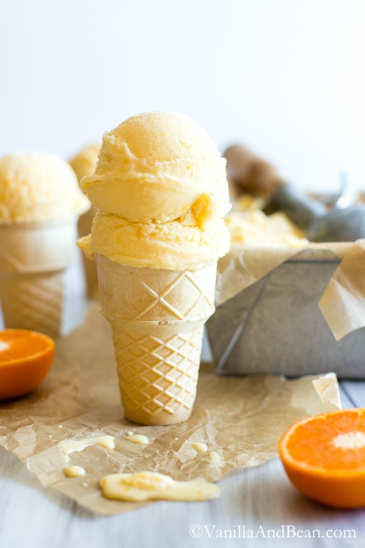 Orange Sherbet {Vegan} | Vanilla And Bean