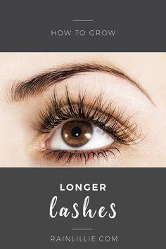 How to grow longer fuller eyelashes naturally by using Castor Oil.