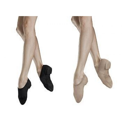 Bloch Phantom Stretch Canvas Girls Jazz Shoes  Reflects Shape of the foot holding shoe firmly to foot.Combination of Black suede and rubber outsole allows for spin without slipping.Features,Stretch canvas upper with elasticated binding.Reflects contours of the foot,enhancing the arch.Combination suede/rubber split.REVOLUTIONARY moldable suede front sole for feel-the-floor action,allows spins when turning up but brakeswhen flat.Colour:Black & Tan,Price: 29.80€