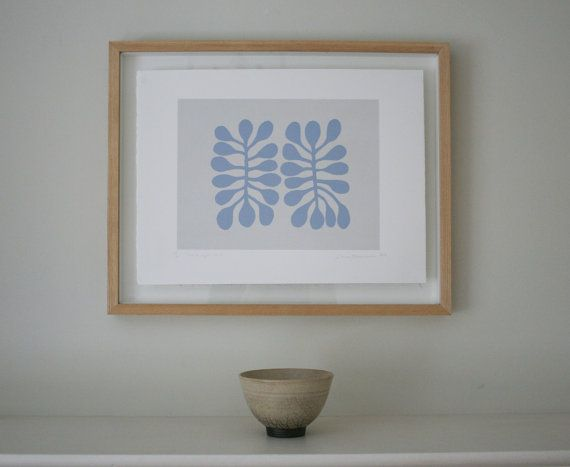Abstract leaf screenprint inspired by Matisse. by littleprintpress, £45.00 Emma Lawrenson