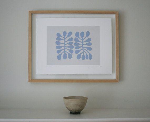 Abstract leaf screenprint inspired by Matisse. by littleprintpress, £45.00 Emma Lawrenson
