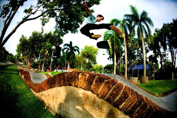 Skater: Kenny Reed  Trick: Varial Flip  Location: Bangkok Thailand  Year: 2009  Photographer: Price