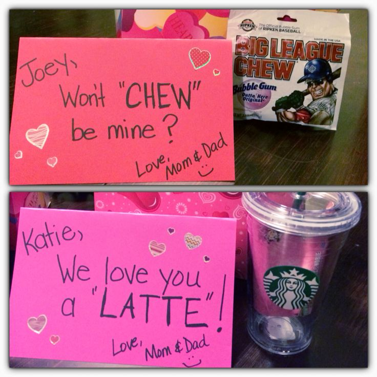 Valentines for teenagers Katie & Joey 2015 Big league chew has an Academy gift card. Starbucks cup has a Starbucks gift card.