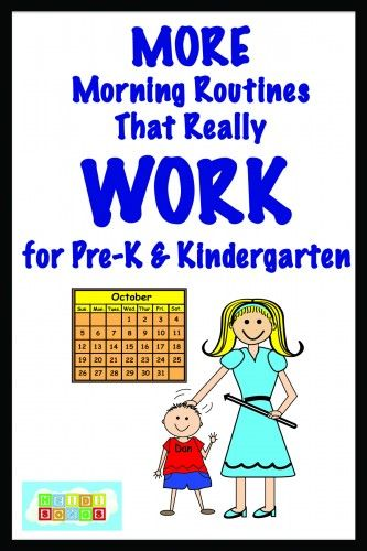 MORE Morning Routines that Really WORK for Pre-K and Kindergarten!