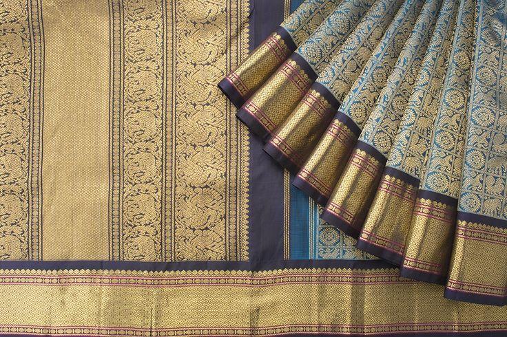 Kanakavalli Handwoven Kanjivaram Silk Sari 1017669 - Collections / Kanjivaram Menagerie - Parisera