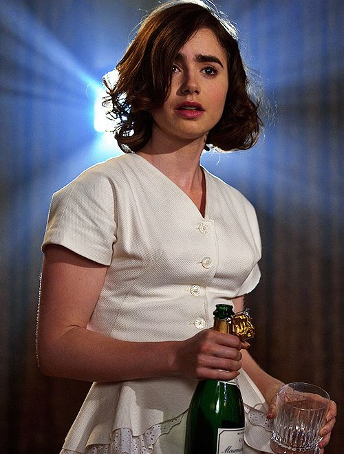 First look at Lily Collins in Warren Beatty's Rules Don't Apply coming out on November 11th 2016