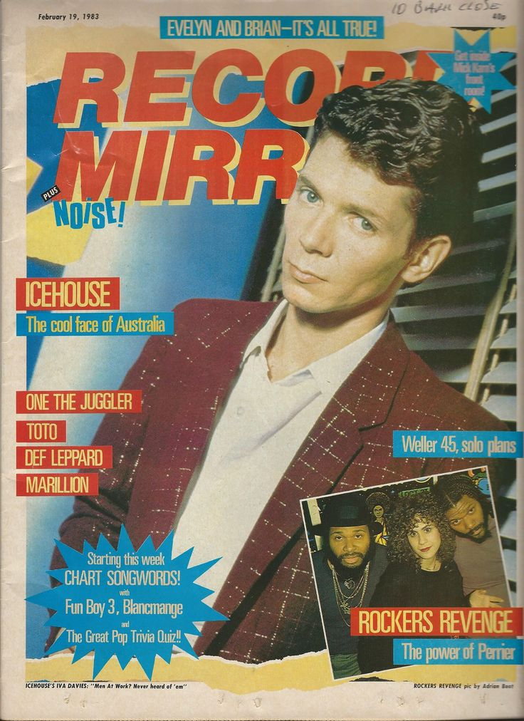 Iva Davies on the cover of the February 19th 1983 issue of Record Mirror <3