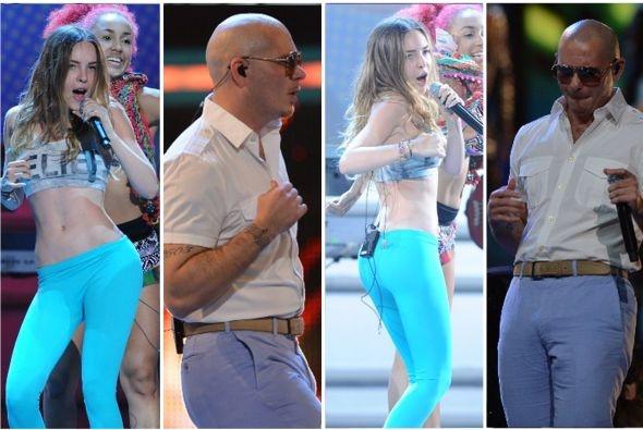 OMG!! estas fotos de #Belinda y #Pitbull estan que arden. Mira mas fotos haciendo click en la foto #PremiosJuventud - Recuerda es esta noche a las 8pm/7C por @Univision