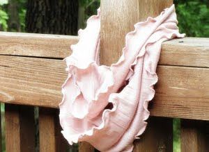 Rosy and Ruffled Infinity Scarf - the easy, DIY addition to your wardrobe you've been waiting for.