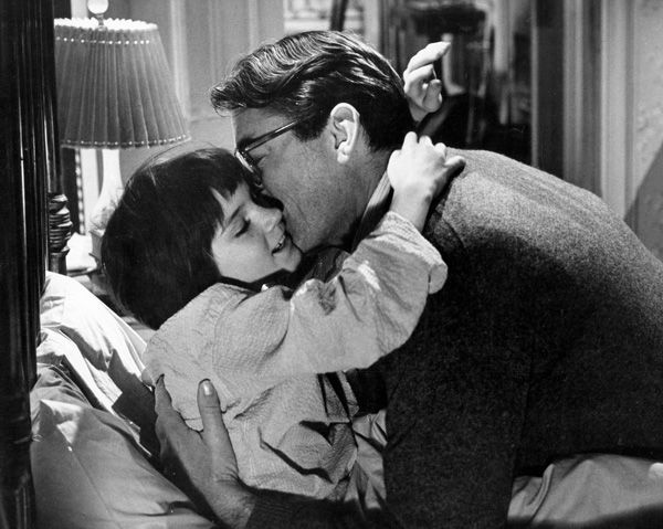 "Gregory Peck and Mary Badham in ""To Kill a Mockingbird"" (1961)"