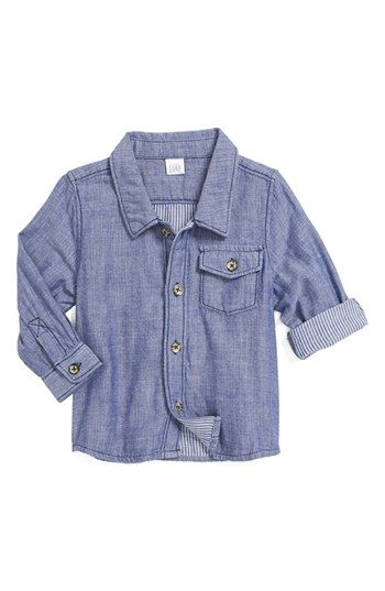Nordstrom Baby Double Cloth Woven Shirt (Baby Boys) available at #Nordstrom