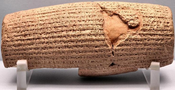 "TED talk on the 2600-year-old ""Cyrus Cylinder,"" the oldest known declaration of religious tolerance and multiculturalism.  By Neil MacGregor, Director of the British Museum."