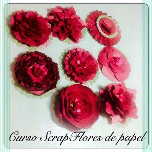 Curso de Flores Artesanais na loja Scrap Memory informações (11) 5181-1707 ou atendimento@scrapmemory.com.br www.scrapmemory.com.br