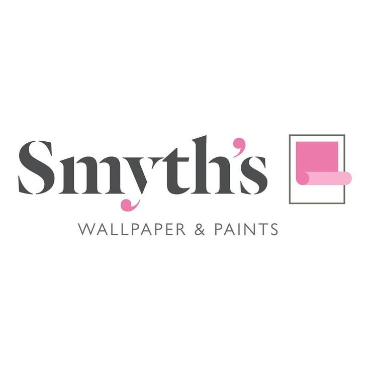New logo for Smyth's Wallpaper & paints #paint #wallpaper #logo #pink #grey #signage #design #wcportfolio #work Delete Comment