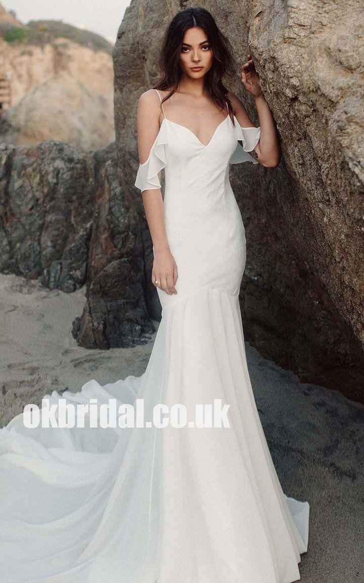 Charming off shoulder satin aline wedding dresses backless cheap