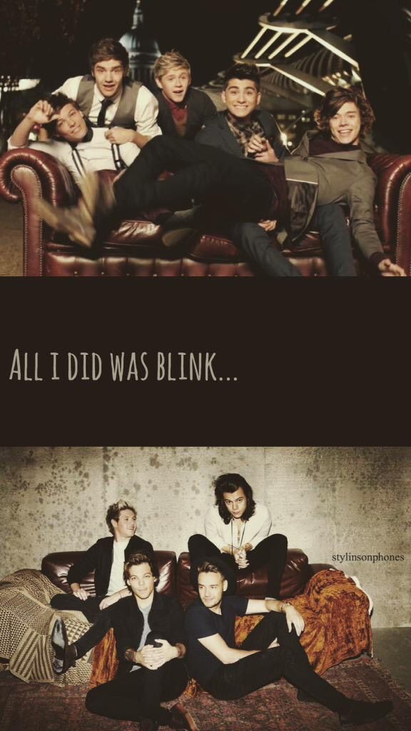 """All I did was blink."" 1D Lockscreen Ctto: @stylinsonphones ( on Twitter )"