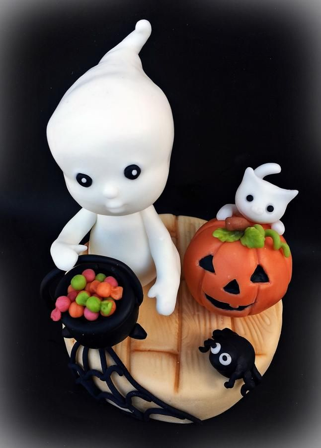 Ghost with cat - Cake by giada