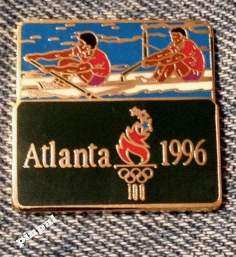 #Rowing olympic semi #cloisonne pin #badge~1996 atlanta with games mark logo,  View more on the LINK: http://www.zeppy.io/product/gb/2/331865785703/