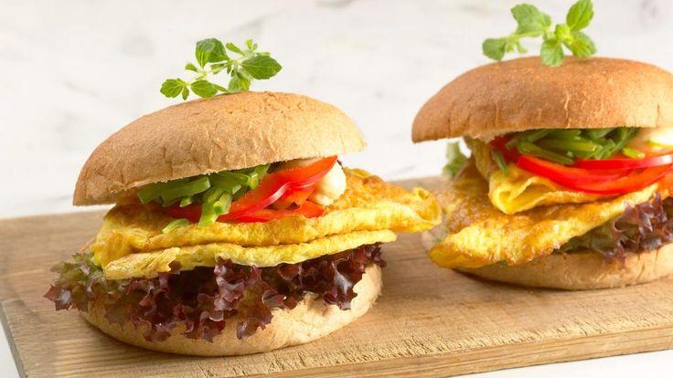 Oppskrift på Omelettburger