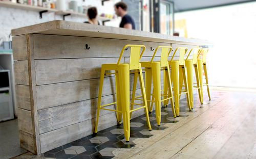 Industrial Bar Furniture, Shop Cafe Restaurant Table chairs Steel Reclaimed Wood | eBay