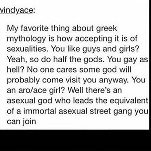 """Greek mythology can be dated as far back as 900-800 BC, so no, homosexuality is not some """"new fad."""" And don't gimme the bullshit of, """"it's mythology""""; art imitates life, meaning they drew the inspiration from real-life LGBT individuals"""