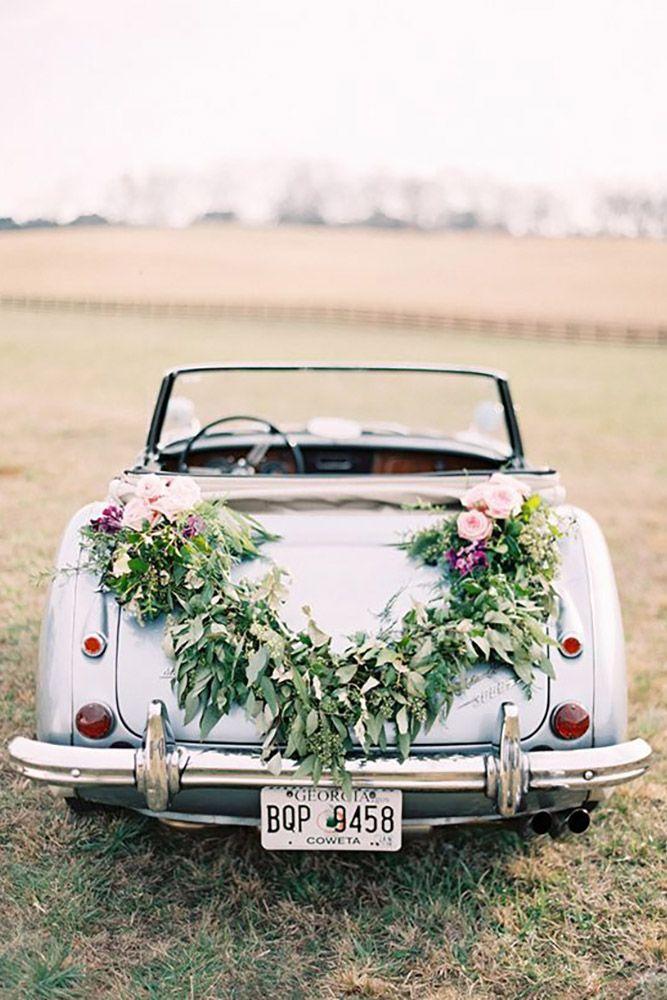 30 Gorgeous Wedding Car Decoration Ideas Wedding Decorations