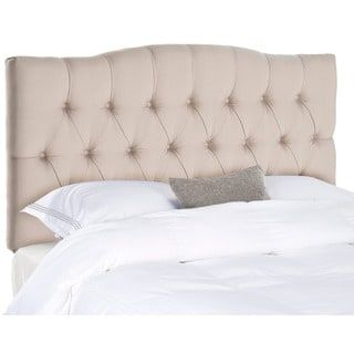 Attractive Safavieh Axel Taupe Linen Upholstered Tufted Headboard (Full) Awesome Ideas