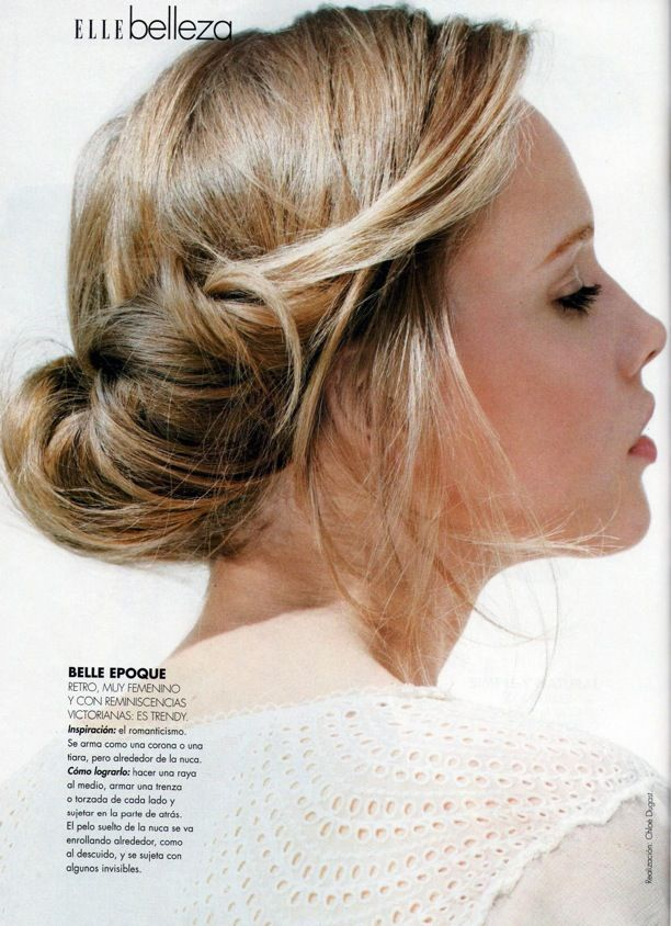 ELLE Argentina Photographer: Emmanuelle Hauguel Styled by: Chlo Dugast Chignon Mania Messy Bun Top Knot