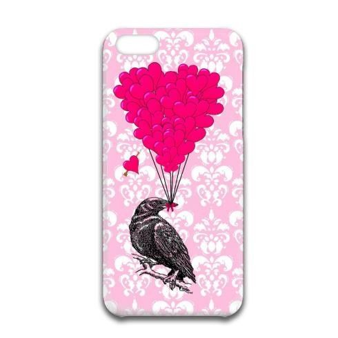 Romantic crow heart iPhone Case by Oconnart