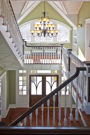 at Hooked on Houses blog. Built by Buck Custom Homes OC, NJ.  Beautiful entry way.