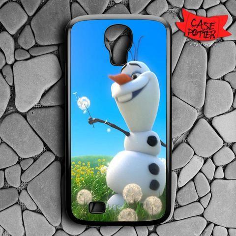 Olaf Playing Flower Dandelion Samsung Galaxy S4 Black Case