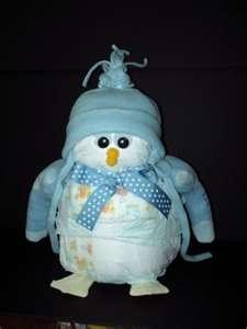 Diaper animals TOO CUTE! #penguin #DiaperAnimals #BabyShower