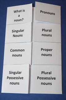 Noun review flap book! Includes pronouns, common & proper nouns, singular & plural nouns and possessive nouns.