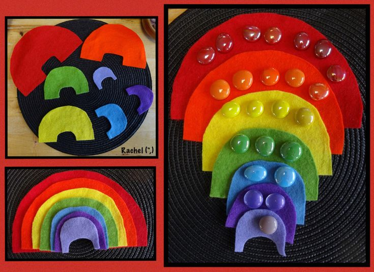 "Simple felt rainbow puzzle from Rachel ("",)"