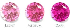 18k Chatham 7mm cushion cut pink sapphire engagement ring with ...
