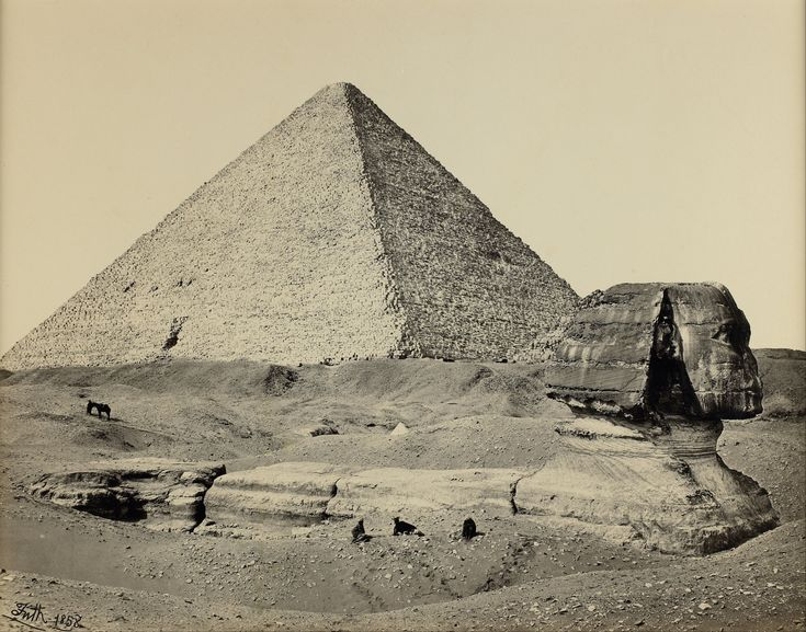 The Great Sphinx was half-buried beneath the Egyptian sands until the beginning of the 20th century.