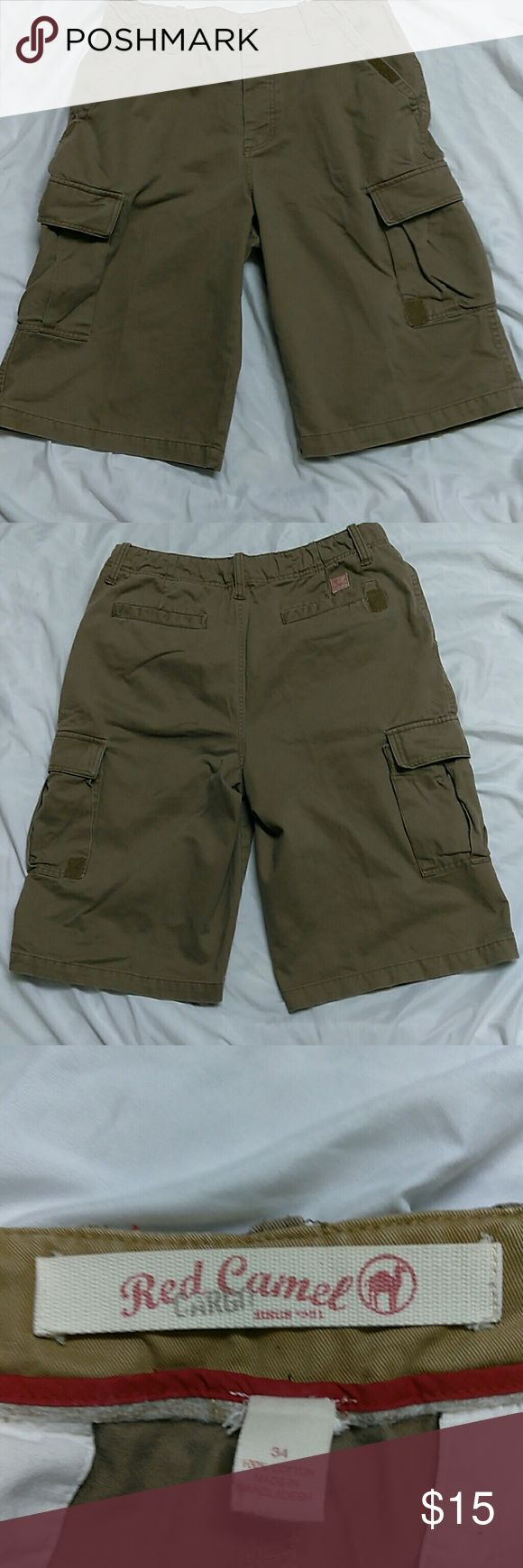 Red Camel Cargo Men's Shorts Size 34 Red Camel Cargo Men's Shorts / Size 34/ Brown / like new. Red Camel Shorts Cargo