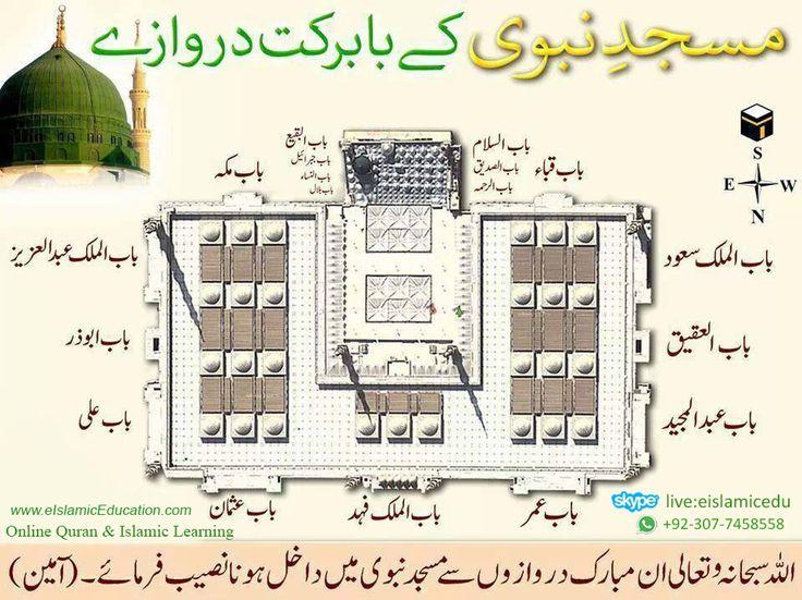 آن لائن ناظرہ قرآن اور دینی تعلیم سیکھیں www.eIslamicEducation.com مسجدِ نبوی کے بابرکت دروازے  اللہ سُبحانہ وتعالیٰ اِن مبارک دروازوں سے مسجدِ نبوی میں داخل ہونا نصیب فرماۓ۔ آمین بجاہ سید المرسلین ﷺ Learn Online Quran & Islamic Short Courses :Holy Quran Courses Reading Quran Course Learning Qaida (For Kids) Qira't e Quran Course Hifz-e-Quran (Memorize Quran) Translation & Tafseer-e-Quran Course www.eIslamicEducation.com Skype: live:eislamicedu Watsapp: +92-307-7458558…
