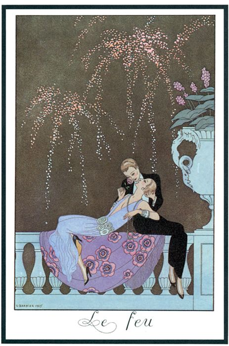 George Barbier's 1925 poster, titled Le Feu (Fire).