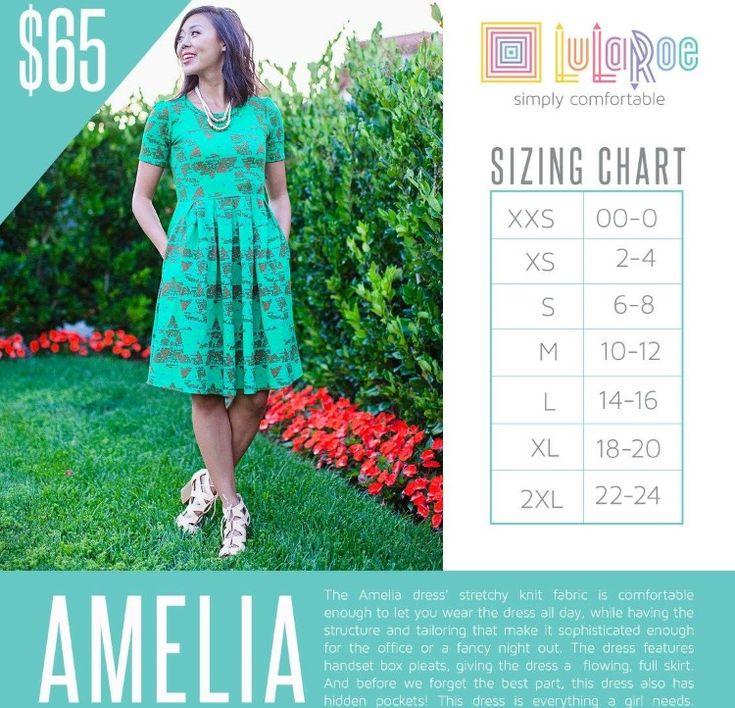 #amelia #lularoe size chart