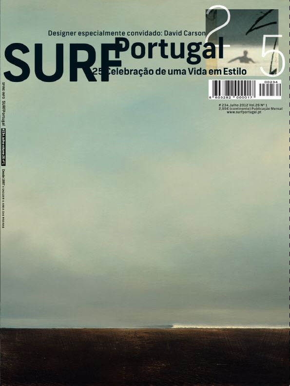 Surf Portugal by David Carson - is that a painting by wolfgang bloch?