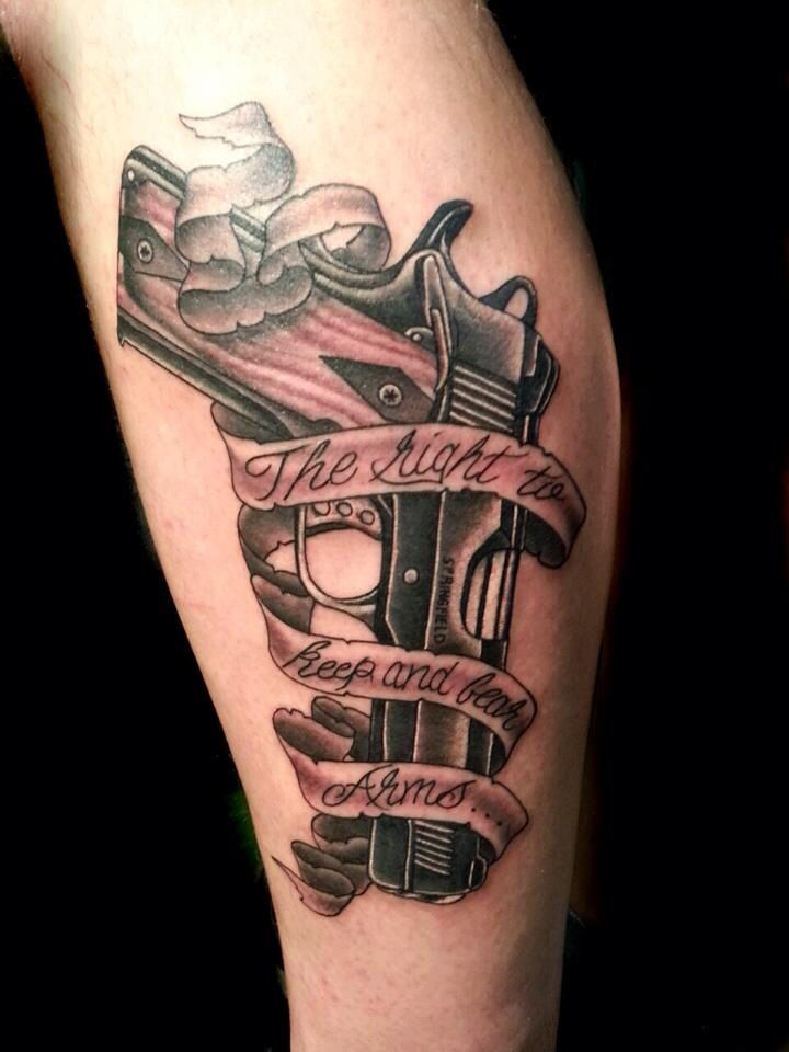 17 best images about tattoos on pinterest pistols for Gun tattoos for females
