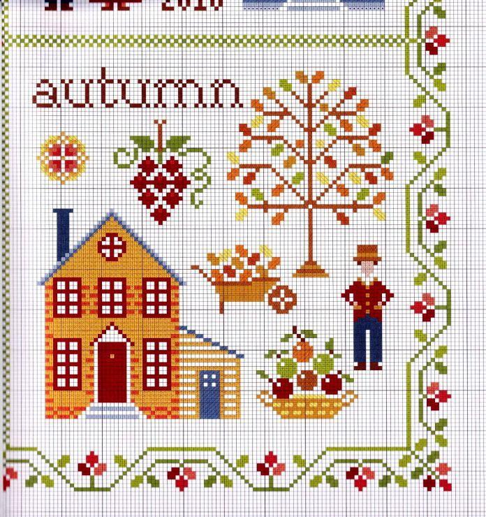 Вышивка autumn