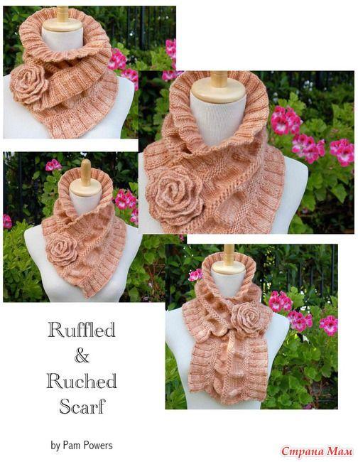 Красивый шарф на английском языке и перевод - Вязание ...